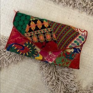 Vintage clutch from India